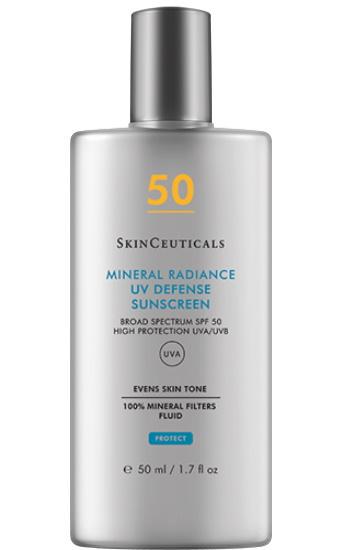 Mineral Radiance UV Defense SPF 50:  Fluide Solaire 100% minéral révélateur d'éclat2