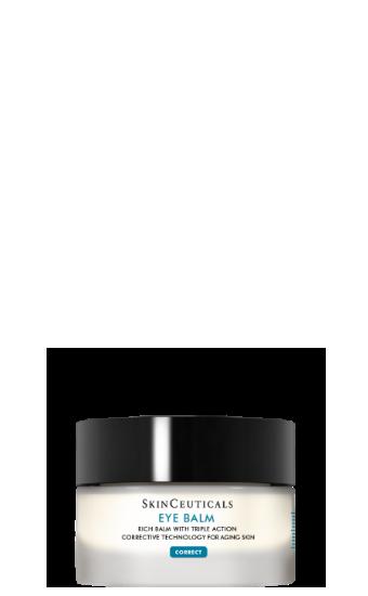 Eye Balm: Crème corrective pour les yeux à base de vitamine E pour le contour des yeux secs et sensibles avec rides et ridules.
