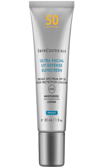 Ultra Facial Defense SPF 50+:  Protection solaire haute protection anti UVA/UVB à large spectre