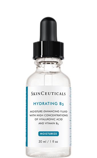 Hydrating B5:   Een vetvrij serum op basis van vitamine B5 en hyaluronzuur voor een optimale hydratatie, de perfecte glow en een gladdere teint.