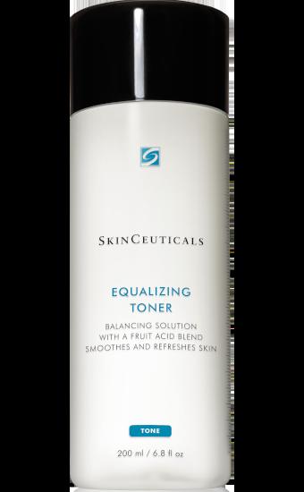 Equalizing Toner: Exfoliërende toner helpt de huid te verfrissen en huidstructuur te verbeteren en tegelijkertijd overtollig residu te verwijderen.