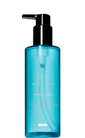 Simply Clean: Poriën-verfijnende reinigingsgel met fruitzuren voor enzymatische exfoliatie en effectieve verwijdering van overtollig talg en waterproof make-up